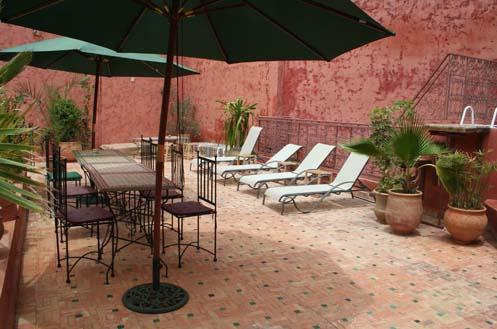 Riad meknes chambres d 39 h tes maroc riad el ma visite - Jardin marocain terrasse ...